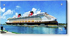 The Disney Dream In Nassau Acrylic Print