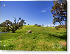 The Distant Hill Acrylic Print by Douglas Barnard