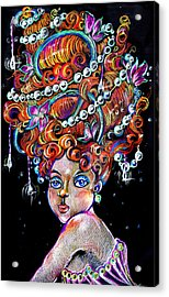 Acrylic Print featuring the drawing The Diva by Nada Meeks
