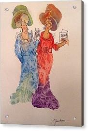 The Divas Acrylic Print by Marilyn Jacobson
