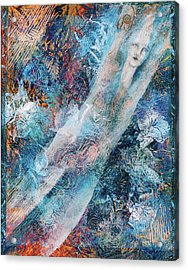 The Diver Acrylic Print by Sue Reed