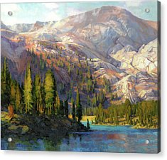 Acrylic Print featuring the painting The Divide by Steve Henderson