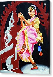The Divine Dance Of Bharatanatyam Acrylic Print by Ragunath Venkatraman