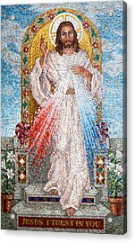 The Divine Mercy  Acrylic Print by Janet Flom