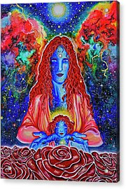 The Divine Mother And Child Acrylic Print by Marika Segal