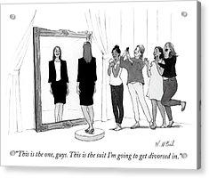 The Divorce Suit Acrylic Print