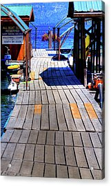 The Dock At Hill's Resort Acrylic Print by David Patterson