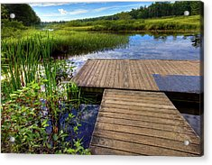 The Dock At Mountainman Acrylic Print by David Patterson