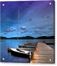 The Dock At The Woods Inn Acrylic Print by David Patterson
