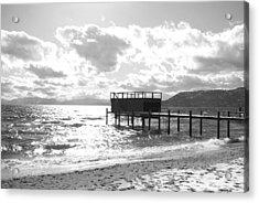 The Dock In Tahoe Acrylic Print by Kiwi Lee