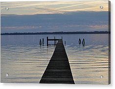 The Dock Acrylic Print by Tiffney Heaning