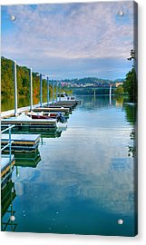 The Docks At Morgantown Acrylic Print by Steven Ainsworth