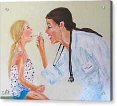 The Doctor Acrylic Print by Irit Bourla
