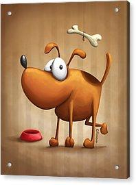 The Dog Acrylic Print by Tooshtoosh