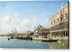 The Doge's Palace And Santa Maria Della Salute Acrylic Print by Celestial Images