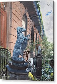 The Dogs On West Tenth Street, New York, Ny  Acrylic Print