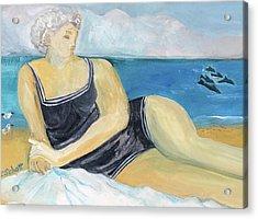 The Dolphin Queen Acrylic Print