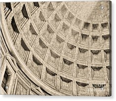 Acrylic Print featuring the photograph The Dome Of The Pantheon by Nigel Fletcher-Jones