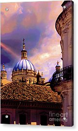 The Domes Of Immaculate Conception, Cuenca, Ecuador Acrylic Print by Al Bourassa