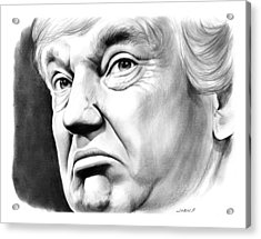 The Donald Acrylic Print by Greg Joens