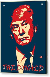 The Donald Acrylic Print by Richard Reeve