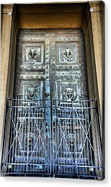 The Door At The Parthenon In Nashville Tennessee Acrylic Print by Lisa Wooten