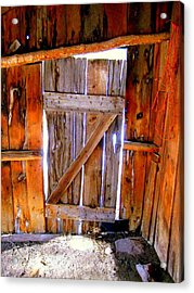 The Door Acrylic Print by Gigi Kobel