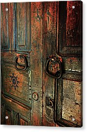 The Door Of Many Colors Acrylic Print