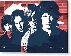 The Doors Graffiti Tribute Acrylic Print