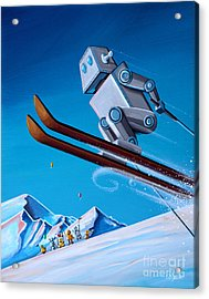 The Downhill Race Acrylic Print by Cindy Thornton