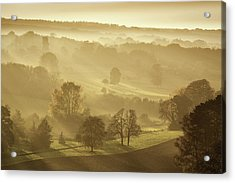 The Downs In Autumn Acrylic Print