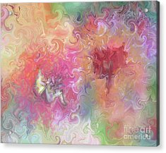 Acrylic Print featuring the painting The Dragon And The Faerie by Roxy Riou