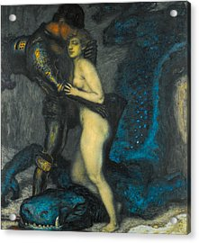 Acrylic Print featuring the painting The Dragon Slayer by Franz von Stuck