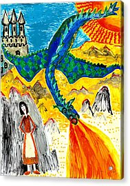 The Dragon Acrylic Print by Sushila Burgess