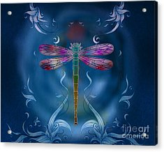The Dragonfly Effect Acrylic Print by Peter Awax