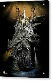 The Dragons Castle Acrylic Print by Ali Oppy