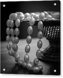 The Drama Of Pearls Acrylic Print