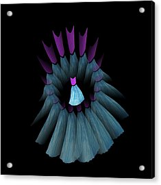 The Dream Circle Of Wise Women - Turquoise And Purple Acrylic Print by Jacqueline Migell