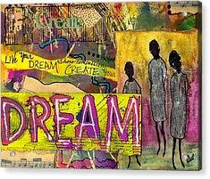 The Dream Trio Acrylic Print by Angela L Walker
