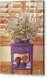 The Dried Basket Arrangement Acrylic Print