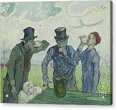 The Drinkers Acrylic Print by Vincent Van Gogh