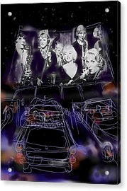 The Drive In Acrylic Print