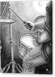 The Drummer Acrylic Print by Scarlett Royal
