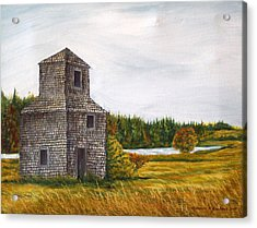 The Drying Barn Acrylic Print by Norman F Jackson