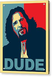 The Dude Abides Acrylic Print by Christian Broadbent
