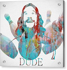 The Dude Bowling Acrylic Print by Dan Sproul