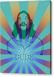 The Dude Pyschedelic Poster Acrylic Print by Dan Sproul