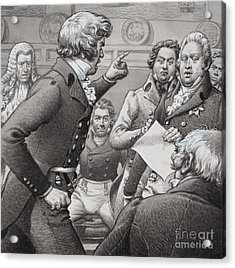 The Duke Of Cumberland, Shown Clashing In Public With His Brothers Acrylic Print by Pat Nicolle