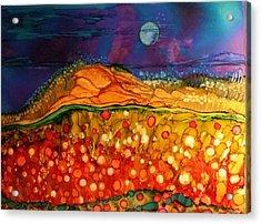 The Dunes At Night Acrylic Print