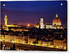 The Duomo At Twilight Acrylic Print by Andrew Soundarajan